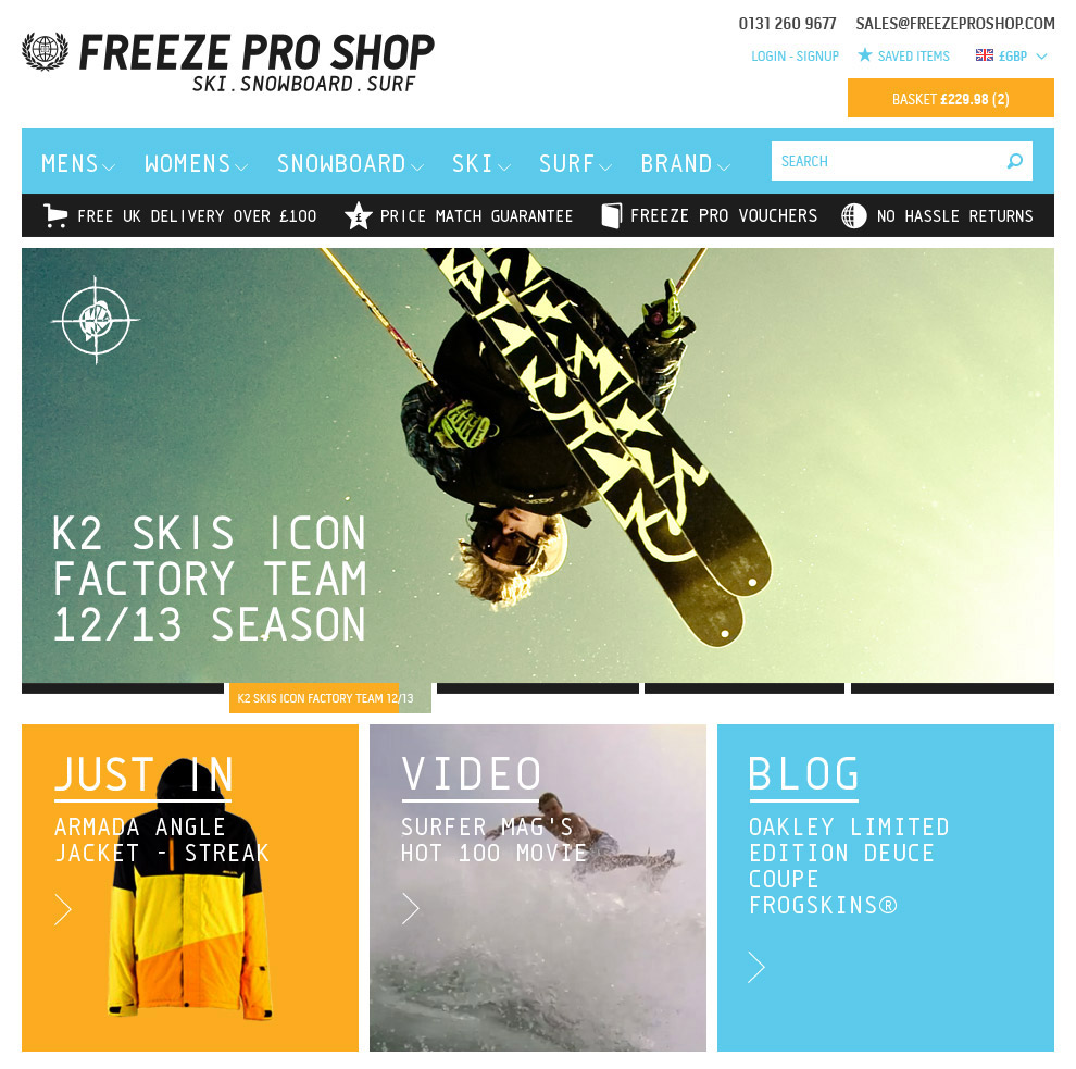 Freeze Pro Shop Home